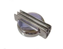 Universal Finned Chrome Radiator Cap Cover - 2nds