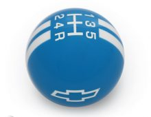Holden/ Chevrolet Bowtie Shift Knob - Blue/ White