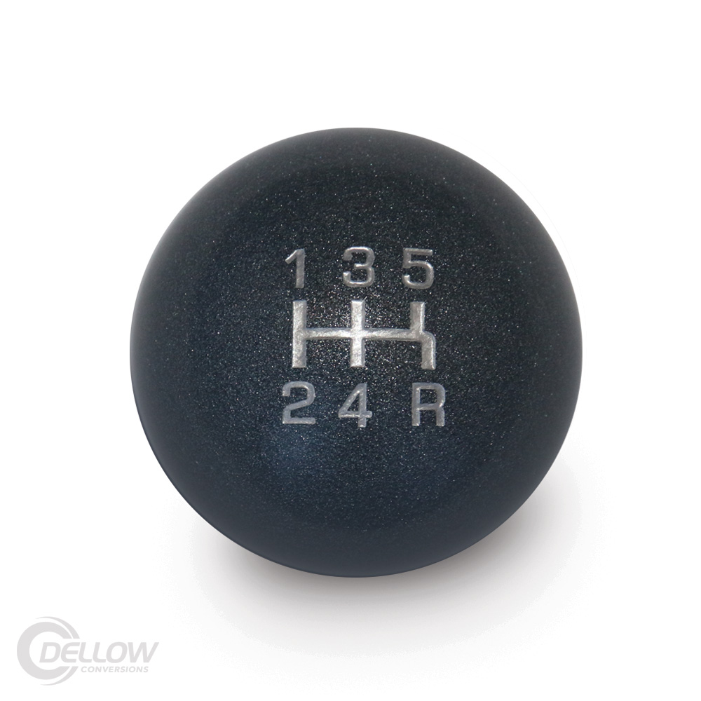 Universal Shift Knob (Silver Gloss) - 5 Speed with Reverse Lower Right
